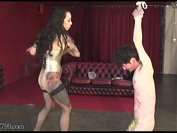 Japanese Dominatrix Youko Hot Wax and Human Sandbag