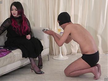 Japanese Mistress Katie CBT with Clothespins and Punishment