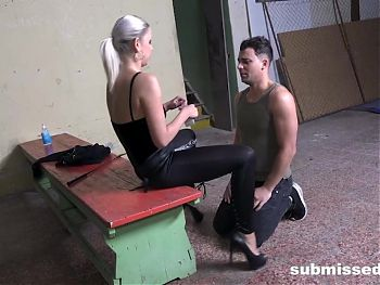 Julia Parker Teaching her Spoiled Slave some Manners