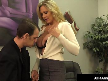 Lay Your Head Against My Boobies! Julia Ann Jacks You Off!
