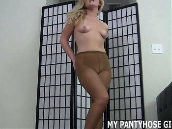 I will give you a handjob in pantyhose JOI