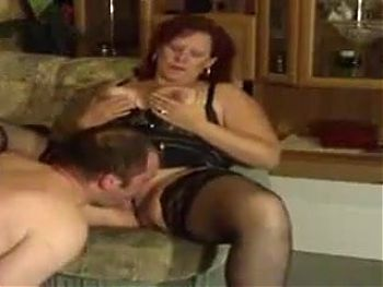 Mistress having her cunt licked
