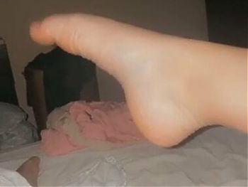 Foot pussy combo